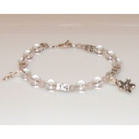 Ovulation Predictor Calendar Bracelet in Crystal & Rose qrt