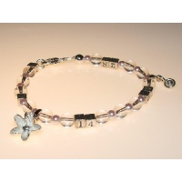 Ovulation Predictor Bracelet in Crystal & Pink Pearl